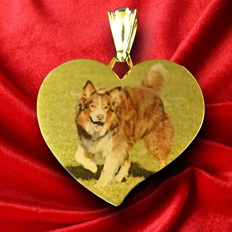 Colour Photo Pendant of man's best friend