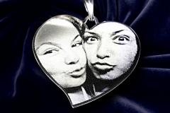 Friendship Selfie Deluxe Large Heart Pendent